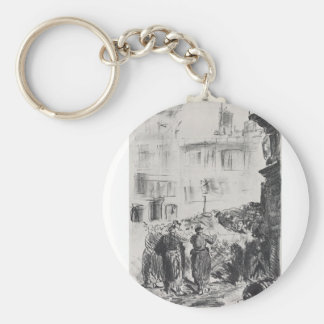 The Barricade by Edouard Manet Key Chains