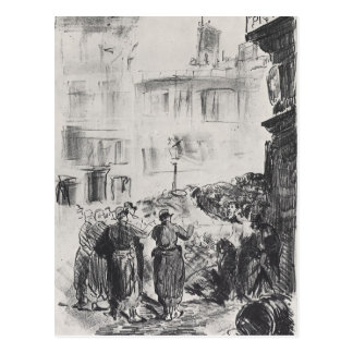 The Barricade by Edouard Manet Postcard
