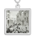 The Barricade Square Pendant Necklace