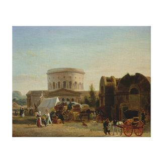 The Barrier at La Villette Gallery Wrap Canvas