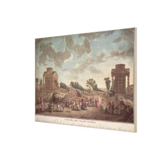 The Barrier at the Champs Elysees Canvas Prints