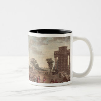 The Barrier at the Champs Elysees Two-Tone Coffee Mug