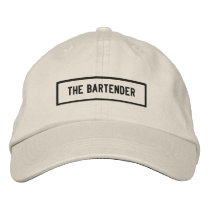 The Bartender Headline Embroidery Embroidered Baseball Cap
