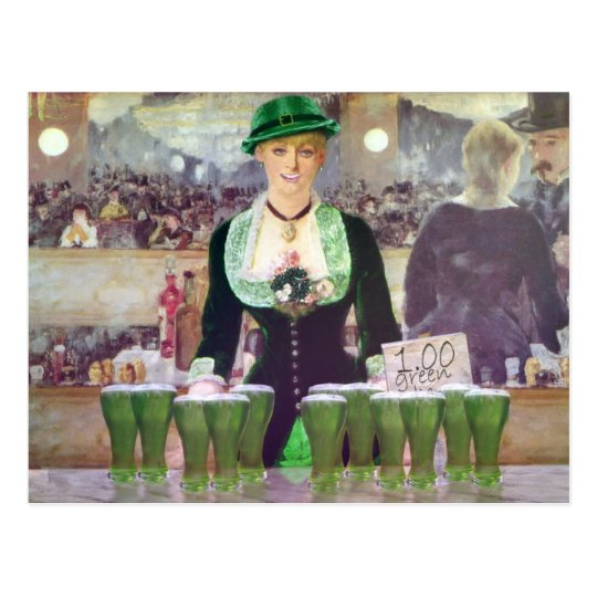 The Bartender sell  $1 Green Beer Postcard