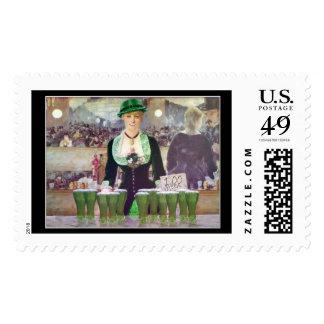 The Bartender sells  $1 Green Beer Postage