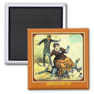 """""""The Base Hit"""" Victorian Refrigerator Magnet"""