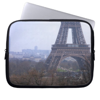 the base of the Eiffel Tower & Montparnasse Computer Sleeve