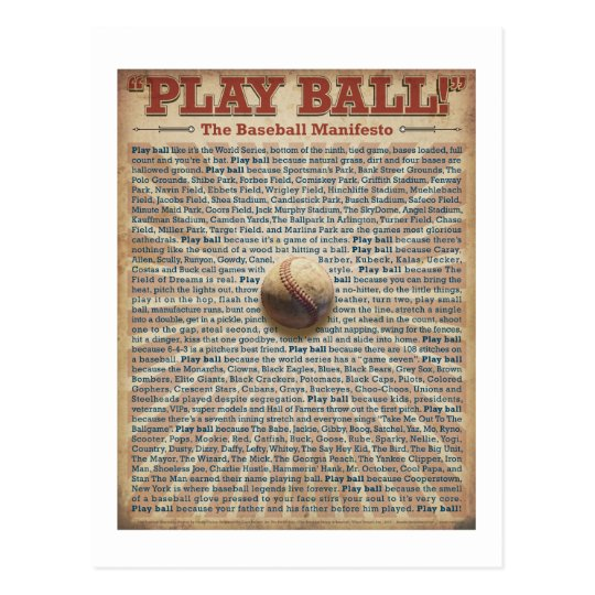 The Baseball Manifesto Print Postcard