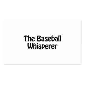 the baseball whisperer Double-Sided standard business cards (Pack of 100)