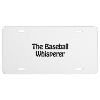 the baseball whisperer license plate