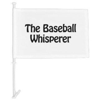 the baseball whisperer car flag