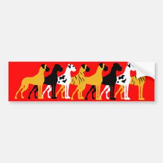 The basic Dane colors Bumper Sticker