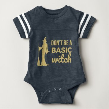 Halloween Themed The Basic Witch Baby Bodysuit