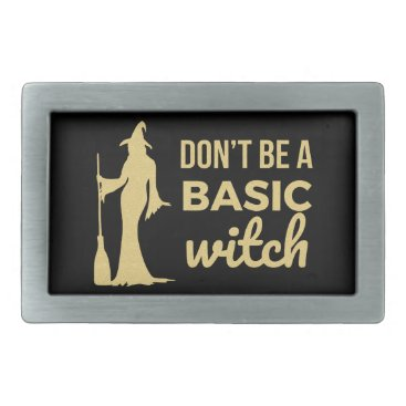 Halloween Themed The Basic Witch Rectangular Belt Buckle