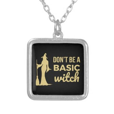 Halloween Themed The Basic Witch Silver Plated Necklace