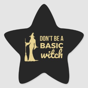 Halloween Themed The Basic Witch Star Sticker