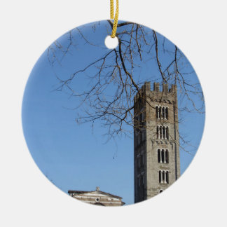 The Basilica of San Frediano and its bell tower Ceramic Ornament