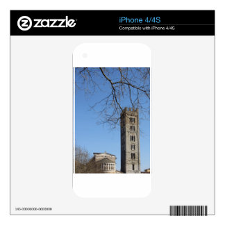 The Basilica of San Frediano and its bell tower Decal For The iPhone 4