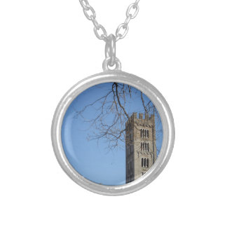 The Basilica of San Frediano and its bell tower Silver Plated Necklace
