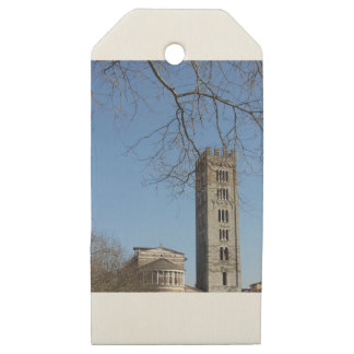 The Basilica of San Frediano and its bell tower Wooden Gift Tags