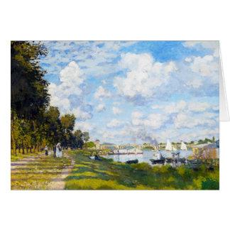 The Basin at Argenteuil Claude Monet Card
