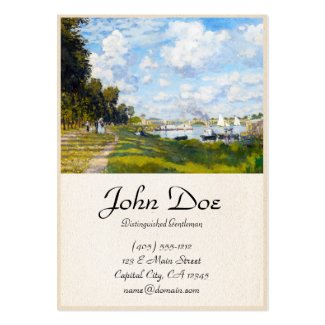 The Basin at Argenteuil Claude Monet Large Business Card