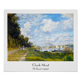 The Basin at Argenteuil Claude Monet Poster