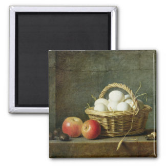 The Basket of Eggs, 1788 2 Inch Square Magnet