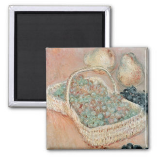 The Basket of Grapes, 1884 2 Inch Square Magnet