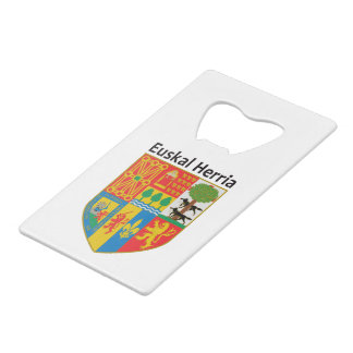 The Basque Country (Euskal Herria) coat of arms, Credit Card Bottle Opener