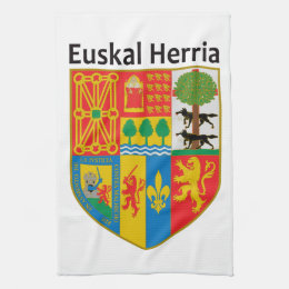 The Basque Country (Euskal Herria) coat of arms, Kitchen Towel