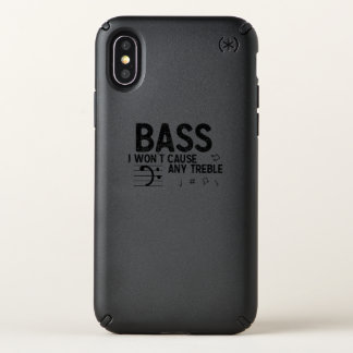 The Bass Player  Music Lover Bass Guitar Gifts Speck iPhone X Case