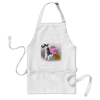 The Basset Hound Stole the cookies Adult Apron