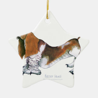 the basset hound, tony fernandes ceramic ornament