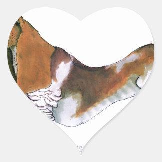 the basset hound, tony fernandes heart sticker