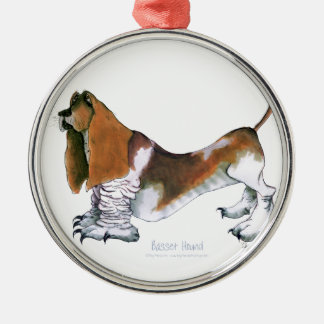 the basset hound, tony fernandes metal ornament