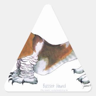 the basset hound, tony fernandes triangle sticker