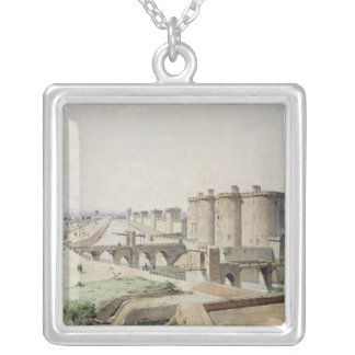 The Bastille in 1420 Silver Plated Necklace