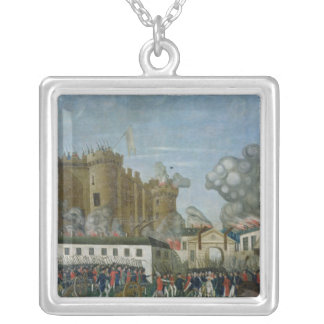 The Bastille Prison, 14th July 1789 Silver Plated Necklace