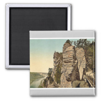 The Bastion, a view, Saxony, Germany rare Photochr Refrigerator Magnets