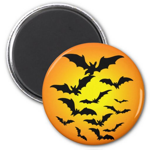 The bat of Halloween - 2 Inch Round Magnet