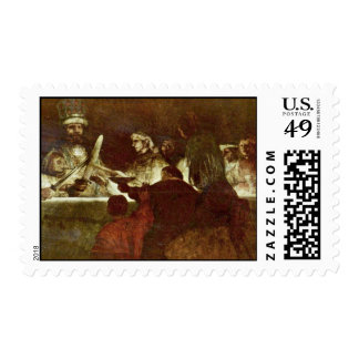 The Batavians Conspiracy By Rembrandt Harmensz. Postage Stamp
