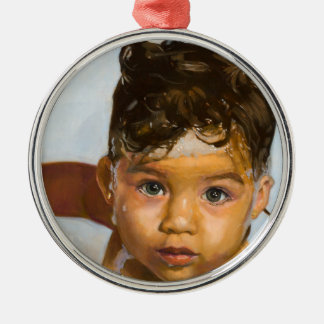 The Bath Baby Metal Ornament