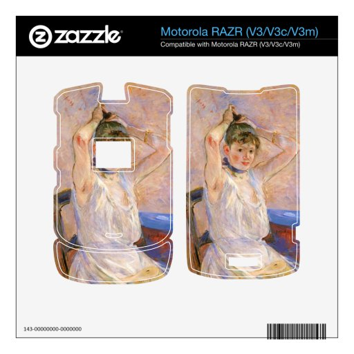 The Bath by Berthe Morisot Motorola RAZR Decals