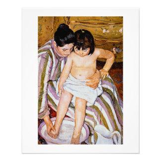 The Bath by Mary Cassatt mother bathing child art Flyer
