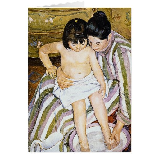 The Bath by Pierre Renoir Greeting Card