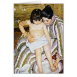 The Bath by Pierre Renoir Greeting Card