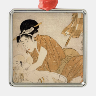 The Bath, Edo period Metal Ornament