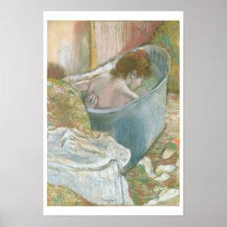 The Bath (pastel) Poster