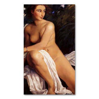 The Bather (female nude nymph) ~.jpg Magnetic Business Card